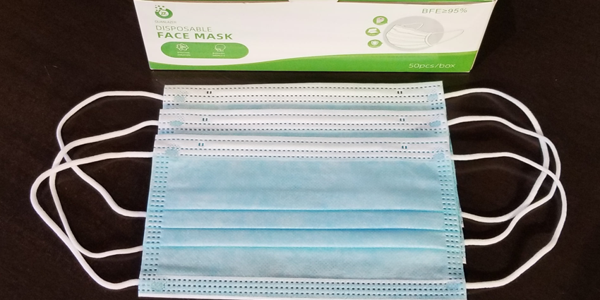 Face Masks: 3-Ply Non Medical Disposable