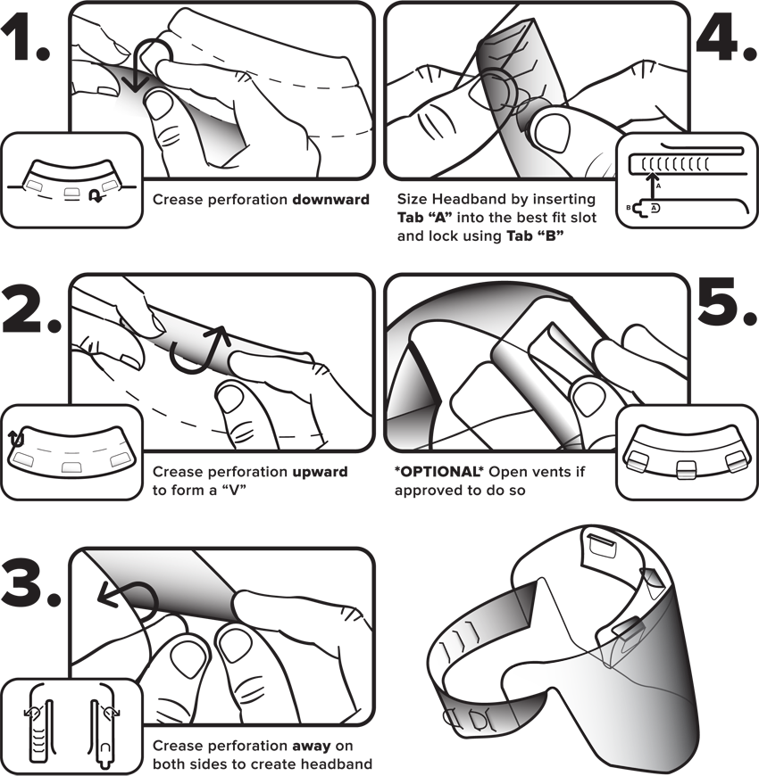 AE201 Face Shield Assembly Instructions