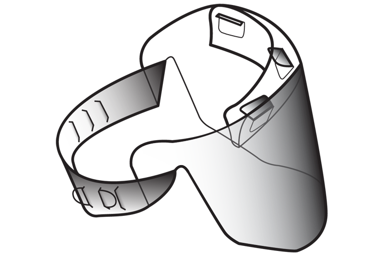 AE-201 face shield